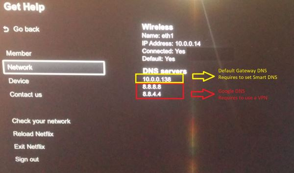 Netflix 8.8.8.8 and 8.8.4.4 DNS Setting