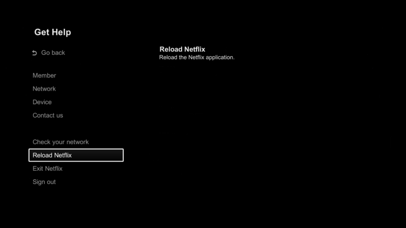 Reload the Netflix app